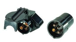 3-poliger Stecker mit Schaltstift 6...24 Volt