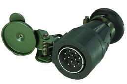 12-poliger 24-Volt-Stecker mit Kontaktbuchsen
