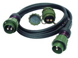 2-polige 24-Volt-Verbindungsleitung mit 2 umspritzten Steckern