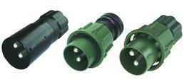 2-poliger 24-Volt-Stecker mit Schraubring