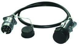 7-polige Verbindungsleitung mit 2 Metallstecker und Schutzkappe