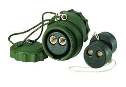 2-polige 24-Volt-Kupplung mit Schraubkappen