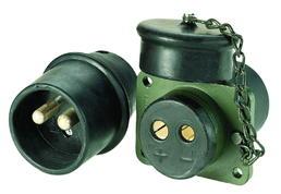 2-polige 24-Volt-Stecker mit Lötkontakten