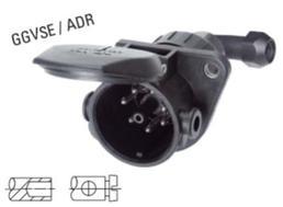 7-polige EBS 24-Volt-Steckdose mit 90° Kabelabgang