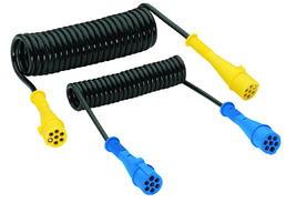 7-polige 24-Volt Elektrowendel mit 2 Kunststoffsteckern