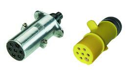 7-poliger 24-Volt-Kunststoffstecker in S-Ausführung ISO 3731