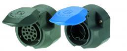 Parkdose für 13-poligen 12-Volt-Stecker, rückseitig abgedichtet