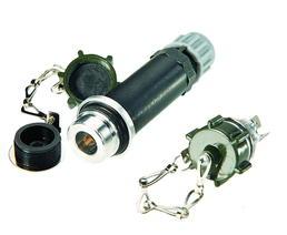 2-polige Steckdose ISO 4165 mit Schraubdeckel und Dichtsatz