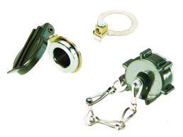 Grüner Deckel für 2-polige Steckdose ISO 4165