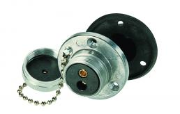 Schraubdeckel mit Kette für 2-polige Steckdose A DIN 14 690