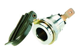 2-polige Steckdose ISO 4165 mit grünem Deckel