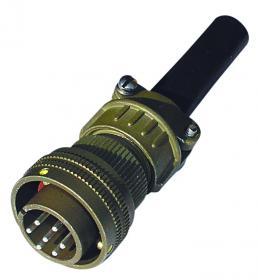 7-polige bis 50 Volt Winkelstecker 90° mit Kontaktstiften