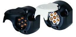 7-polige 12-Volt-Kunststoffsteckdose in N-Ausführung ISO 1724