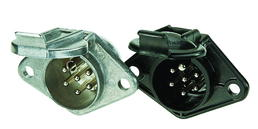 7-polige 24-Volt-Kunststoffsteckdose, Flachsteckanschluss 20-fach
