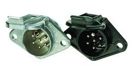 7-polige 24-Volt-Kunststoffsteckdose, Crimp/L�tanschluss