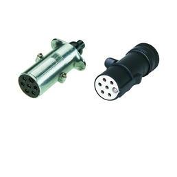 7-poliger 24-Volt-Metallstecker ,Flachsteckanschluss